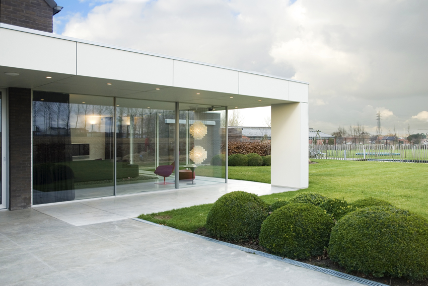 Moderne glasshouse met aluminium constructie de mooiste for Veranda window design
